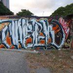 Graffiti uliczne street art autor nieznany